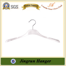 On Time Shippment Quality White Hanger in Plastic for Dresses