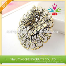 2016 fashion christmas alibaba china supplier flower shape embossing metal stikers for decoration
