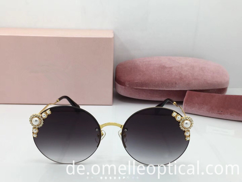 Rimless Cateye Sunglasses