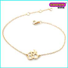 Joyería de pulsera de oro al por mayor personalizada de fabricante de diseño simple para mujer
