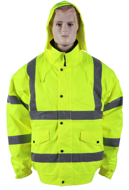 Reflective rain jacket waterproof with hood