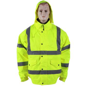 Reflective rain jacket waterproof with hood