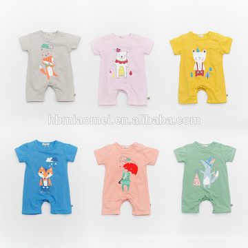 Unisex de manga curta bebê Onesie Infantil Babys Boys Romper Baby Girl Jumpsuit