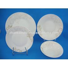 Nuevos platos de porcelana de porcelana de cerámica china de forma tradicional