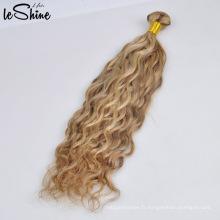 Alibaba Gros 100% Humain Blonde Vison Droit Vierge Brésilien Bundle De Cheveux