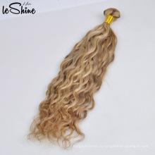 Alibaba Оптовая 100% Человеческих Блондинка Норковая Прямая Девственницы Бразильские Волос Bundle