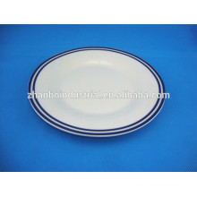 Modern Kitchen Luxury Design Paint Round Ceramic Plate