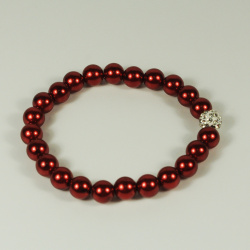 Enthusiasm Red Pearl Bracelet