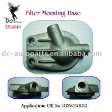 Aleación de aluminio fundición a presión para base de montaje de filtro de aceite remoto