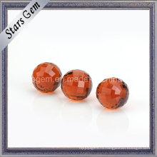 Гранатового цвета 12 мм Кристалл стеклянный шар