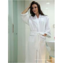 Algodón Waffle tela Albornoz Hotel Albornoz Vestidos de vestir para las mujeres Long Hotel Bath pijama pijama (WSB-2016029)