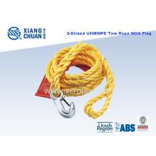 Cuerda de remolque UHMWPE de 3 hilos con bandera