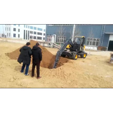 Retroexcavadora remolcable 15ton excavadora de ruedas con Ce
