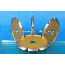 V-shaped segment diamond saw blade for stone , marble and concrete
