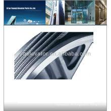Cable de elevador con núcleo de fibra