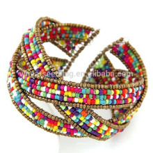 2015 novos produtos boho moda bracelete frisado brasileiro, pulseira de praia