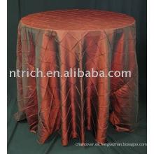 Cubiertas de tabla, cubierta de tabla del tafetán del pintuck, mantel del banquete