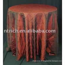 Housses de table, taffetas pintuck couverture de table, nappe de banquet