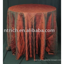 Table covers, taffeta pintuck table cover,banquet tablecloth