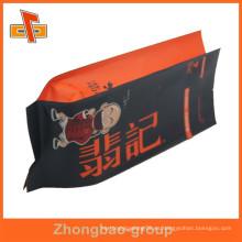 Bolsa de kraft de papel de gusset lateral de sellado térmico con lámina interior para el envasado de aperitivos
