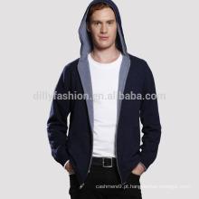 Altai cashmere homens zip up hoodies atacado