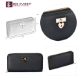 HEC Famous Brand Security Carte de crédit Black Lady Wallet