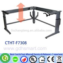 VERIZON COMMUNICATIONS manual crank 3 legs height adjustable office desk frame