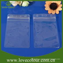 Подгонянный прозрачный мешок pvc, пластичный держатель карточки