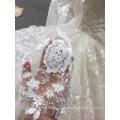 Neuankömmlinge Luxus Langarm Ballkleid Muslim White Dress Wedding