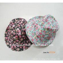 Sombrero floral barato del sombrero de ala de la manera de la señora