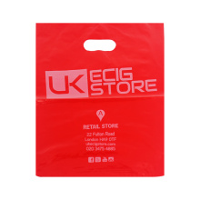 Biodegradable Red Color Plastic Shopping Bag