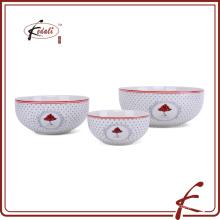 Buena calidad frescas estilo patrón de cerámica sopa tazón bowl