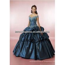 HE2260 Off ombro bordado bordado superior cintura dobrada camadas ruffled seda de tafetá saia de renda rendas de volta 18 vestidos de festa