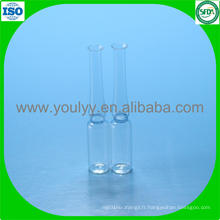 1 ml Ampoule de verre pharmaceutique