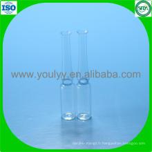 Ampoule en verre pharmaceutique de 1 ml