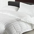 cotton100 white jacquard fabric luxury hotel style bedding cotton bedding white bedding