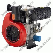 Motor Diesel de 4 tiempos con 8.0HP doble cilindro y motor de arranque eléctrico