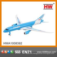 Мини-пластиковая задняя пассажирская модель самолета для детей