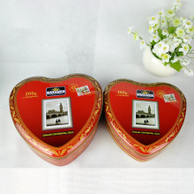 Colorful Printing Heart Shape Chocolate Tin Jar Candy Can