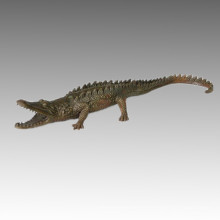 Statue animale Crocodile / Alligator Bronze Sculpture Tpal-115