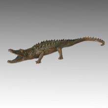 Статуя животных Крокодил / Аллигатор Бронзовая скульптура Тпал-115