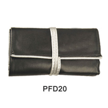 Black PU rolling bag for makeup brush