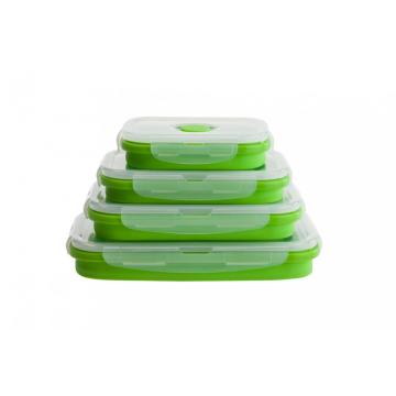 Qualidade Lunch Storager Silicone Folding Lunch Box