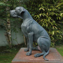 populaire vente chaude métal artisanat bronze grands danois statue