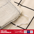 100%Cotton 200TC Satin Printed Bedding Set Hotel Linens Suppliers