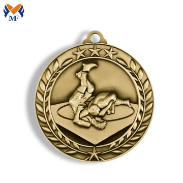 Medaglie di judo sportive in materiale metallico