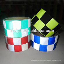 High reflective checker tape for safety clothing