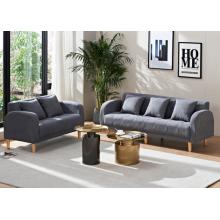 Sofá de madera moderno de la tela de los muebles de la sala de estar de las piernas