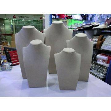 Завод Оптовая черный бархат ювелирные изделия Дисплей ожерелье подставка (НШ-ГВ-П)