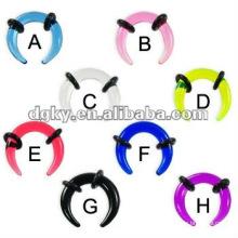 Fake UV ear spiral jewelry body piercing jewelry cheap spiral ear tunnel